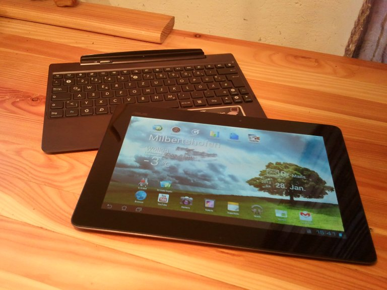 Asus Eee Transformer Prime TF201 undocked