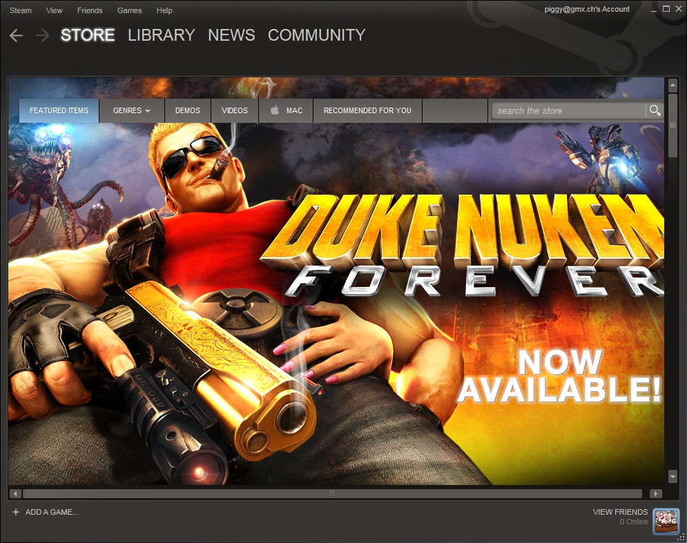 Duke Nukem in Steam