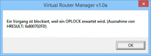 Virtual Router Manager Oplock