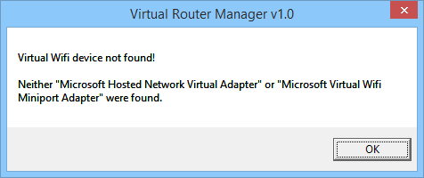 Virtual Router Manager 1 0 unter Windows 8/10 | Myria de